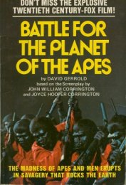 Battle for the Planet of the Apes - Gerrold David